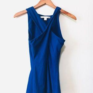 • boston proper cobalt blue x-front tank top •
